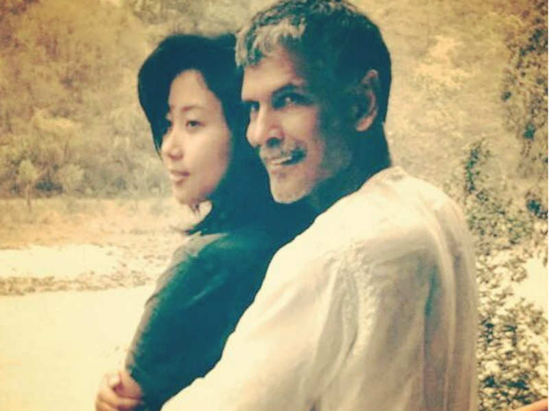 Pic: Milind Soman finds love again with air hostess Ankita Konwar