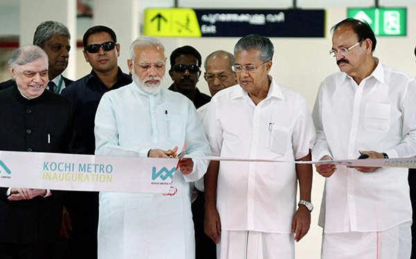 PM Modi inaugurates Kochi metro rail