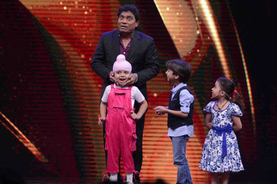Johnny Lever with kids
