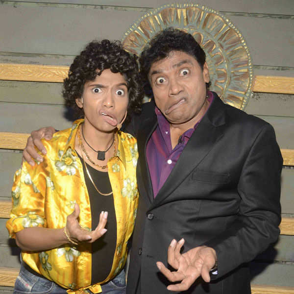 Jamie Lever with her father Johnny Lever