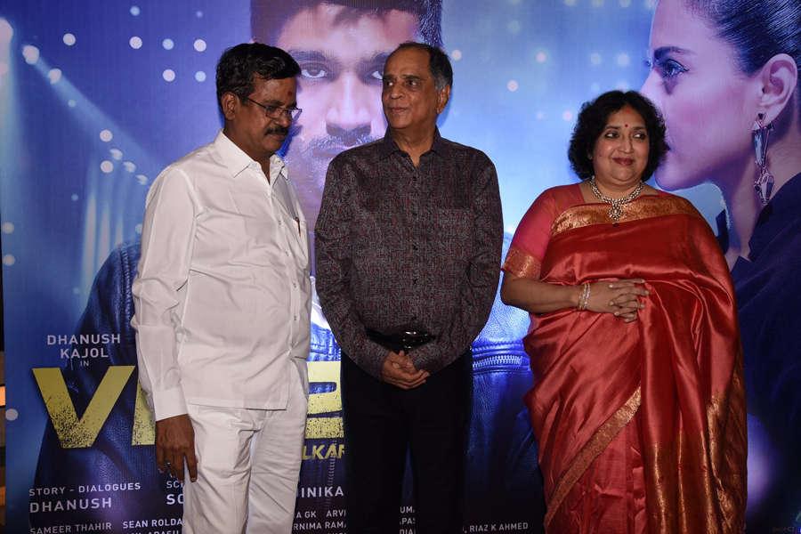 S Thanu and Rajinikanth's wife Latha Rajinikanth during the trailer launch