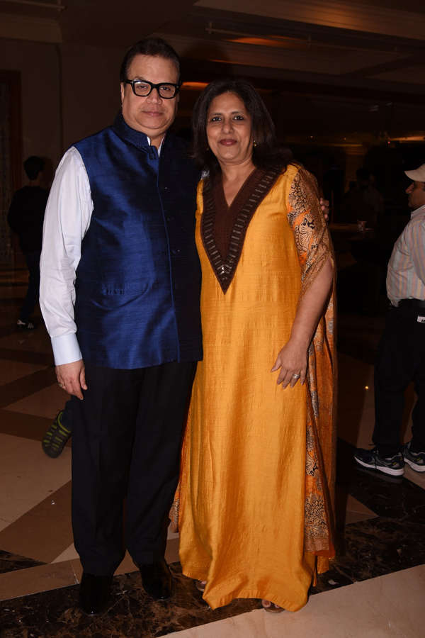 Ramesh S. Taurani and Kiran Juneja pose for the camera
