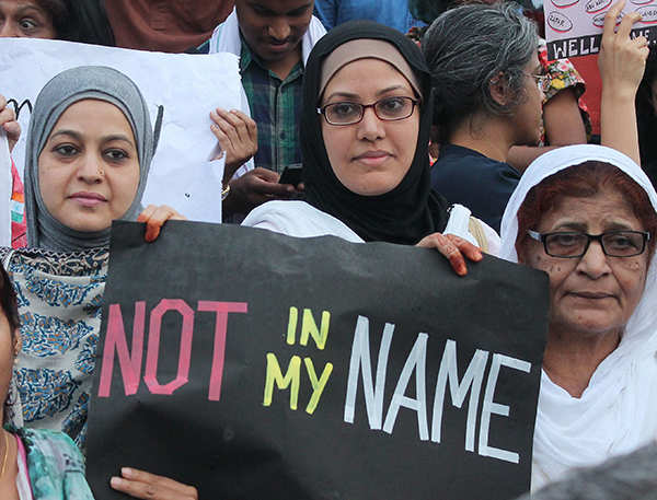 Thousands protest against lynching