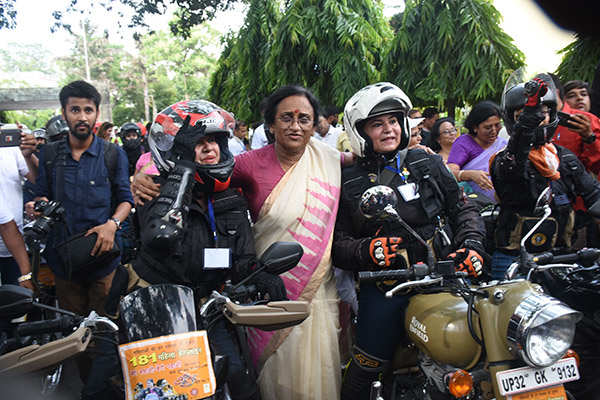 Lady bikers ride from Lucknow to Varanasi