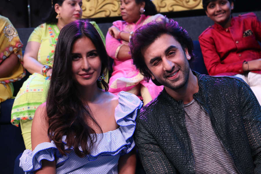 Katrina Kaif and Ranbir Kapoor pose for the camera