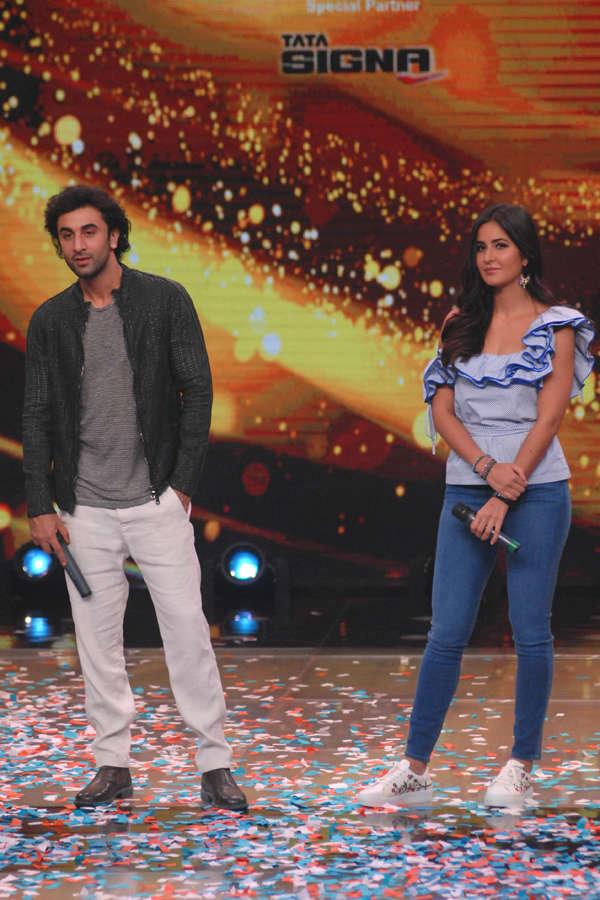 Ranbir Kapoor and Katrina Kaif during Jagga Jasoos promotion