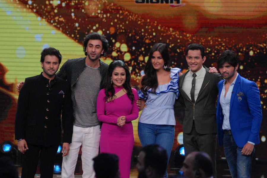 Javed Ali, Ranbir Kapoor, Neha Kakkar, Katrina Kaif, Aditya Narayan and Himesh Reshammiya