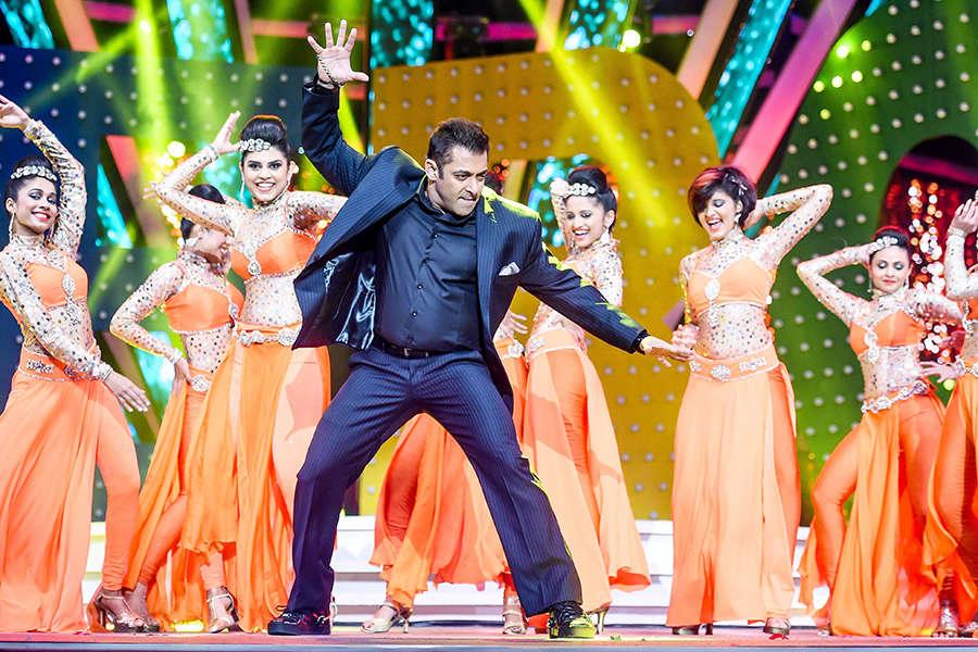 Salman Khan performing