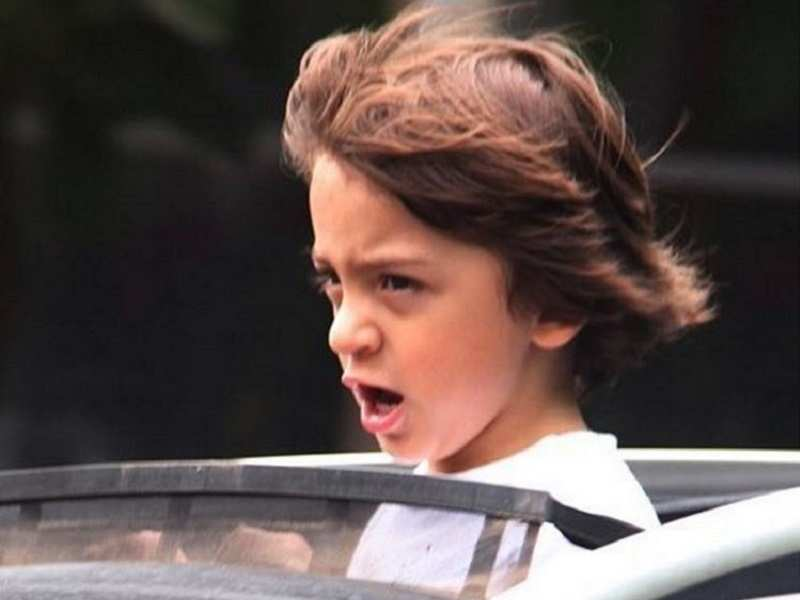 Pics: Shah Rukh Khan's son AbRam Khan's expression on a car ride is priceless