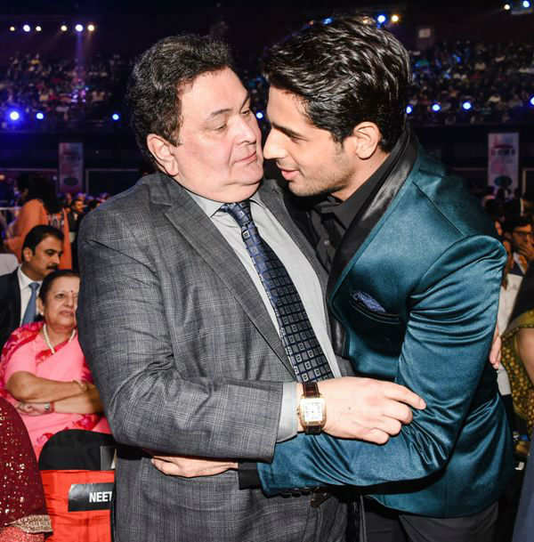 Rishi Kapoor with Sidharth Malhotra