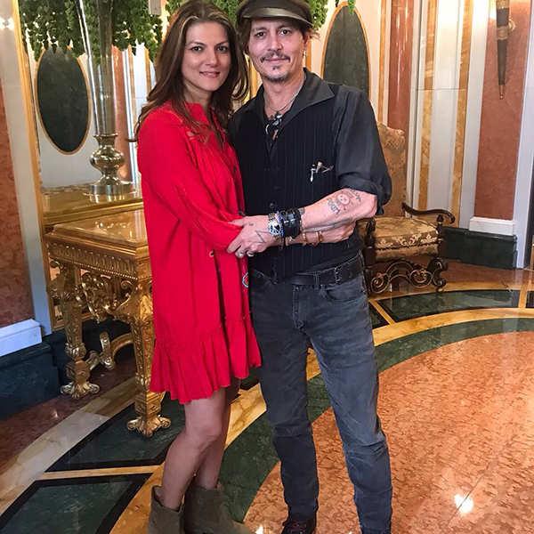 Nandita Mahtani with Johnny Depp