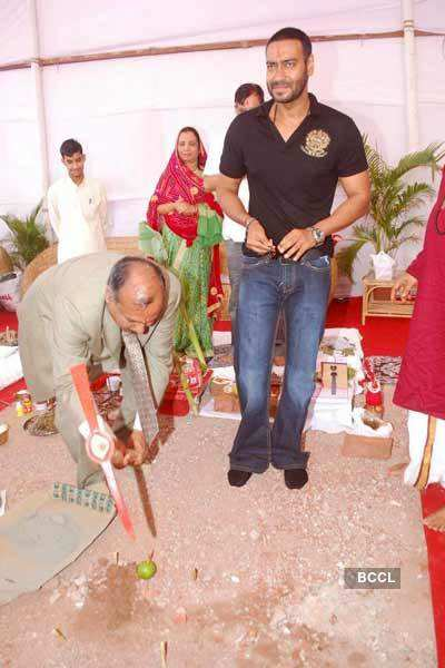 Ajay Devgan at Bhoomi Puja