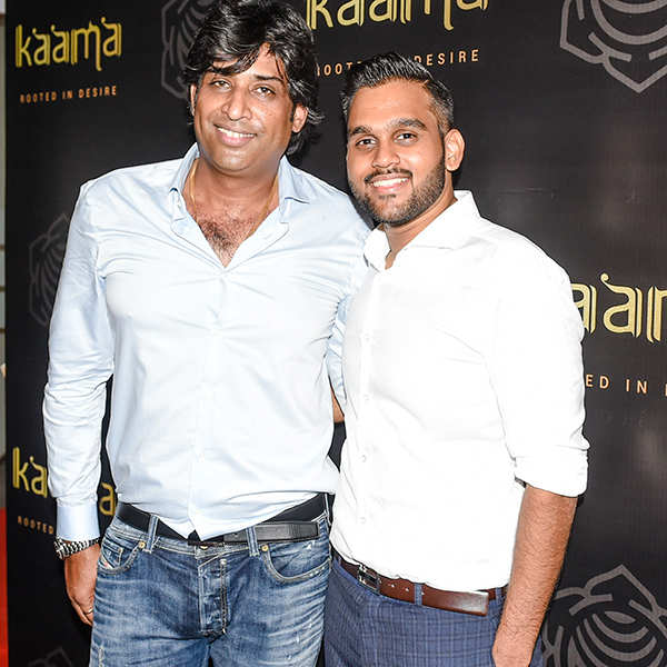 Sudhir Gouchwa and Shubham Lad at Kaamaa Pre-launch party