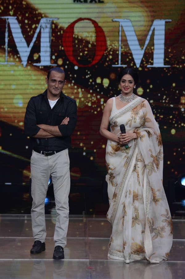 Akshay Khanna and Sridevi promoting Mom