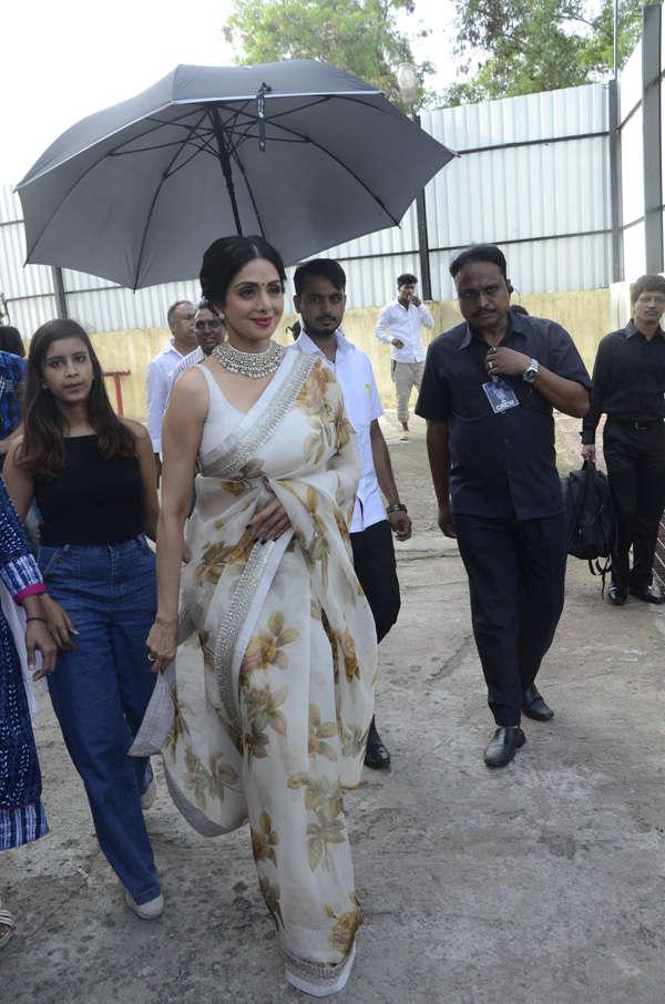 Sridevi arrives