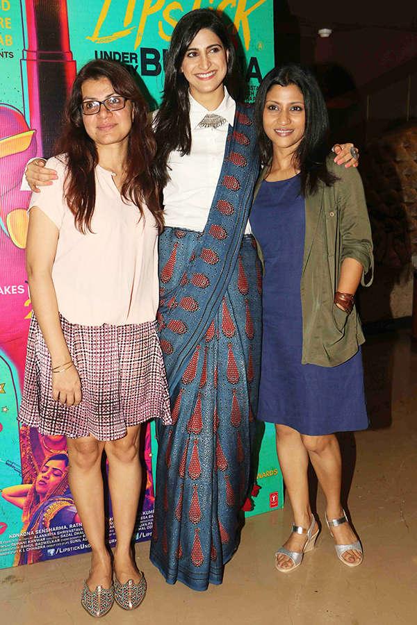 Alankrita Shrivastava, Aahana Kumra and Konkona Sen Sharma