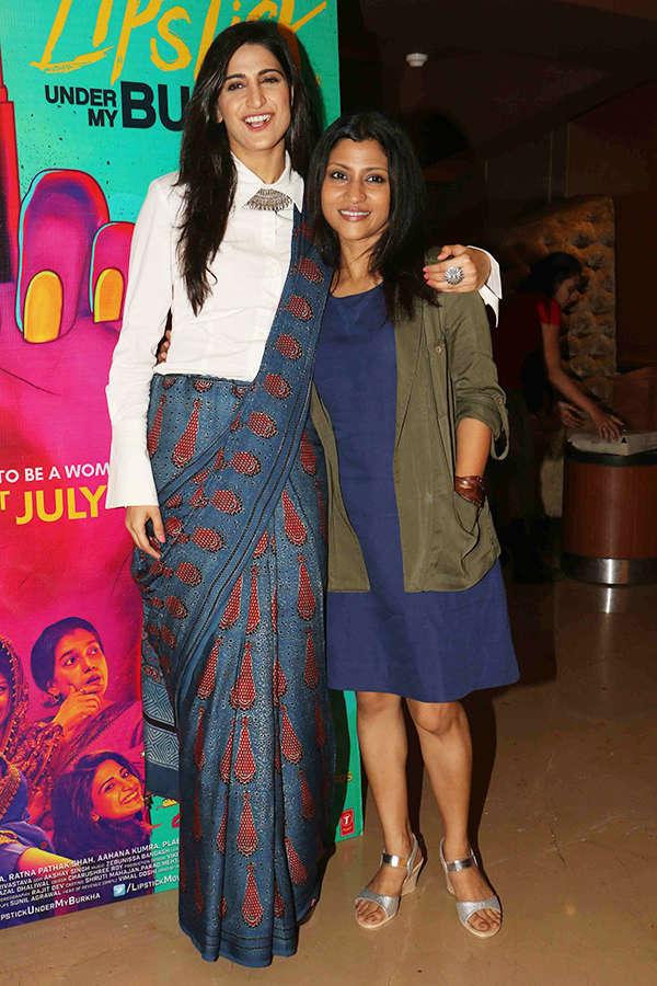  Aahana Kumra and Konkona Sen Sharma at the screening of Lipstick Under My Burkha