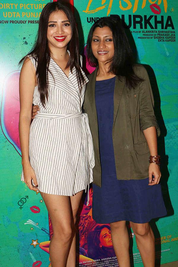 Plabita Borthakur and Konkona Sen Sharma at the screening of Lipstick Under My Burkha