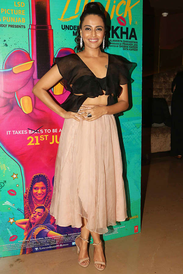 Swara Bhaskar at the screening of Lipstick Under My Burkha