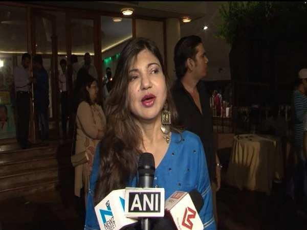 Alka Yagnik at the music release of 'Mr. Kabaadi'