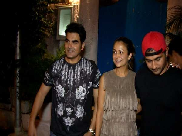 Arbaaz Khan and Amrita Arora spotted in the city