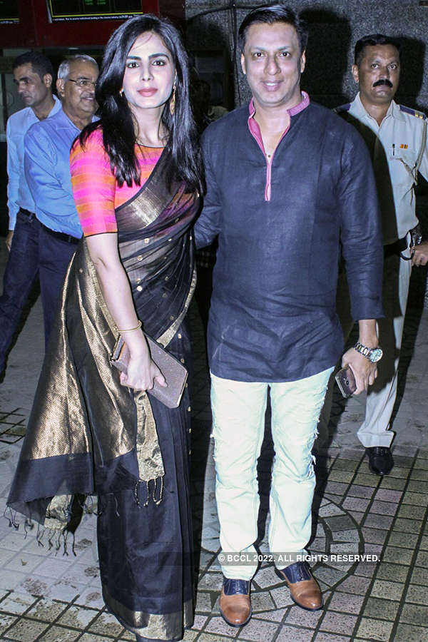Kirti Kulhari and Madhur Bhandarkar at the premiere of Indu Sarkar