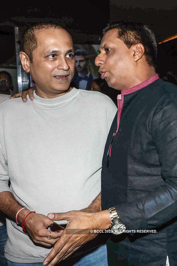 Vipul Shah and Madhur Bhandarkar at the premiere of Indu Sarkar
