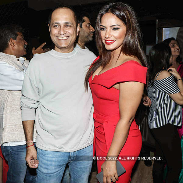 Vipul Shah and Neetu Chandra at the premiere of Indu Sarkar
