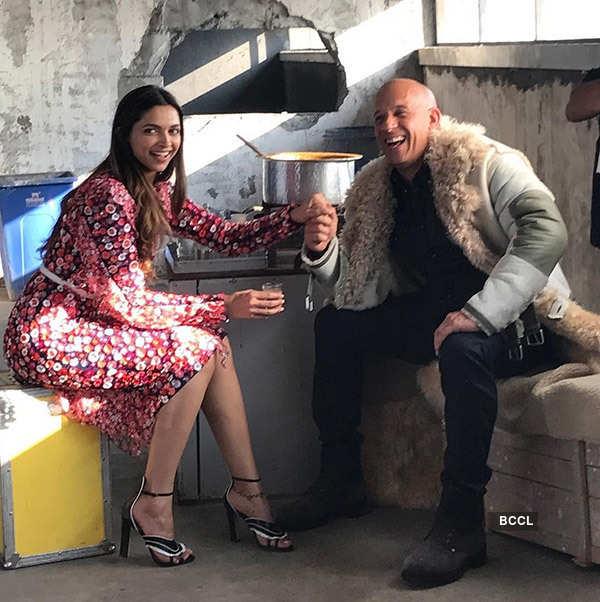 Unseen picture of Deepika Padukone and Vin Diesel