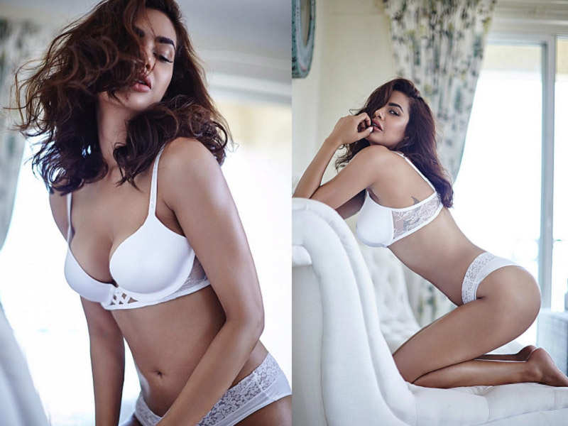 0a427f54cbc Esha Gupta turns up the heat in sultry white lingerie