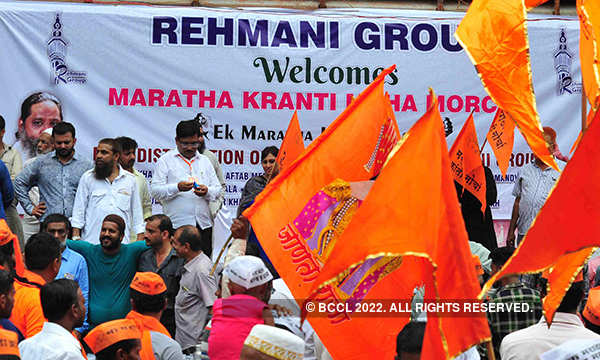 Marathas hold mega protest march in Mumbai