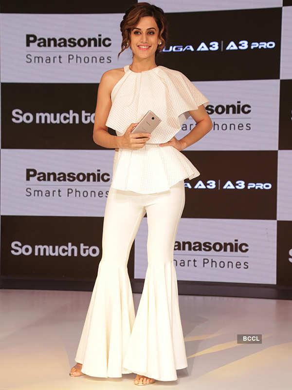 Taapsee Pannu unveils Panasonic smartphones