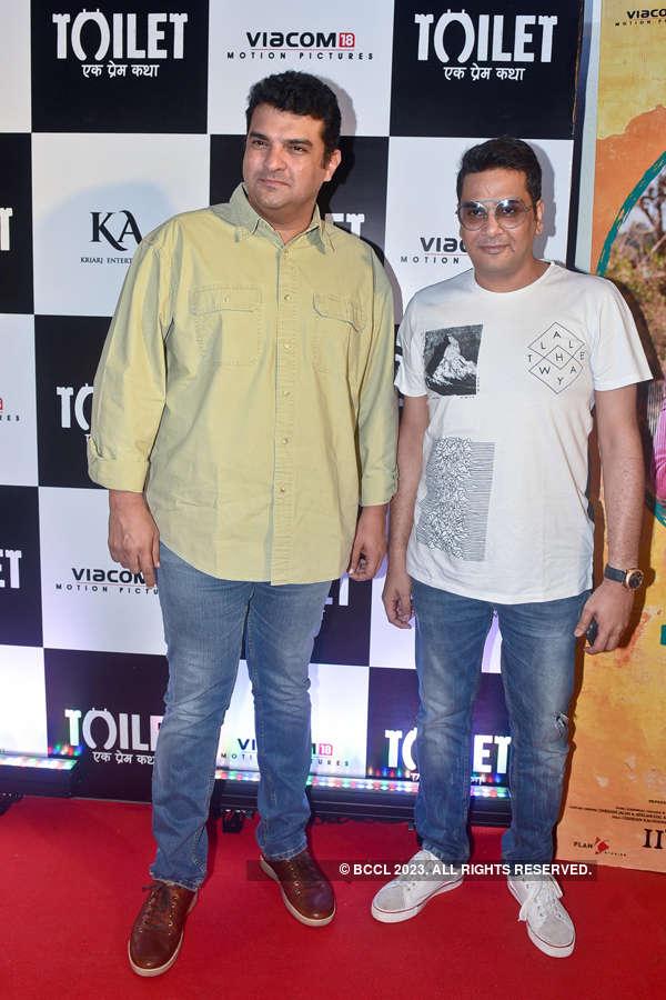 Siddharth Roy Kapur, Mukesh Chhabra at Toilet screening