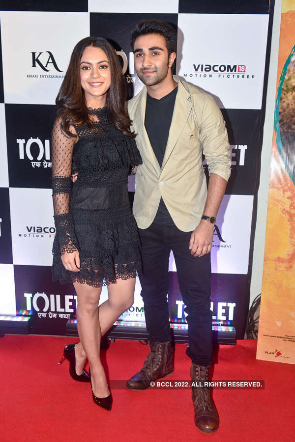 Anya Singh and Aadar Jain at Toilet screening