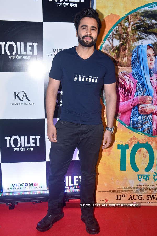 Jackky Bhagnani at Toilet screening