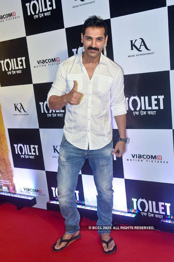John Abraham at Toilet screening