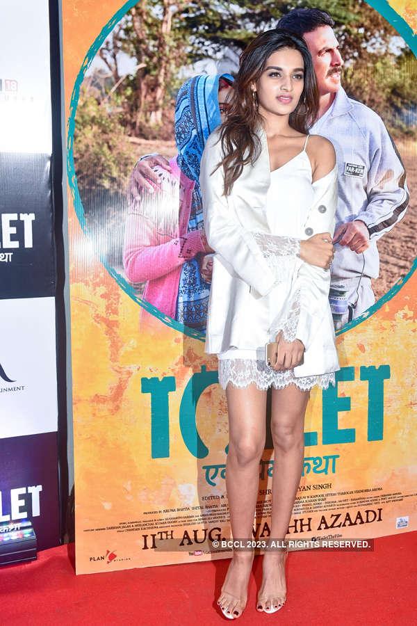 Nidhhi Agerwal at Toilet screening