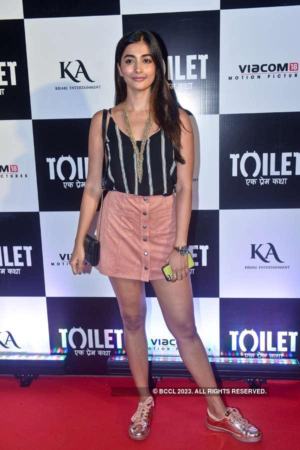 Pooja Hegde at Toilet screening