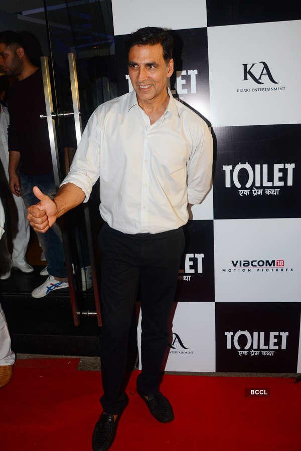 Akshay Kumar at Toilet screening