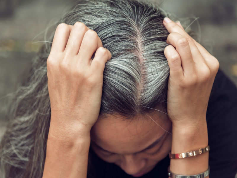 4 ways to cover gray hair without hair dyes | The Times of India