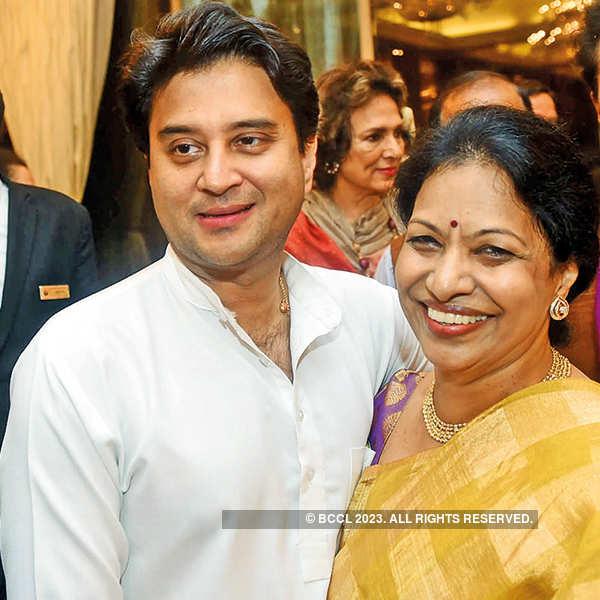 Jyotiraditya Scindia and Indira Reddy