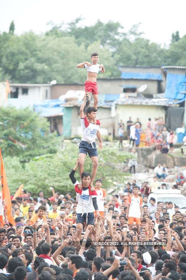 In pics: Dahi Handi celebrations