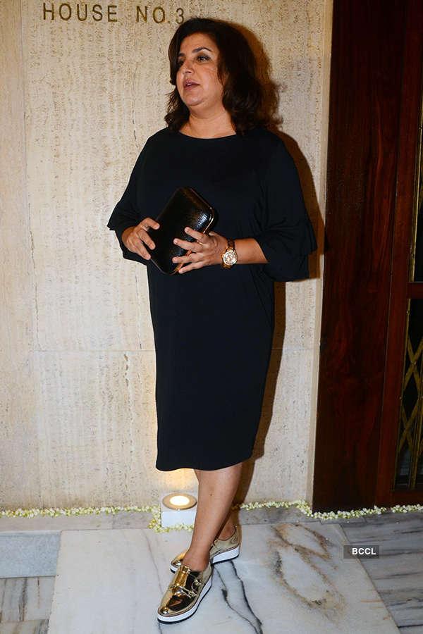 Bollywood celebs attend Sridevi's birthday party