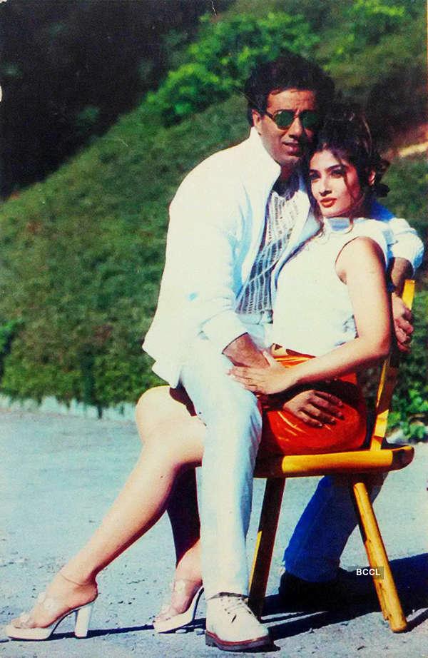 Sunny Deol and Raveena Tandon