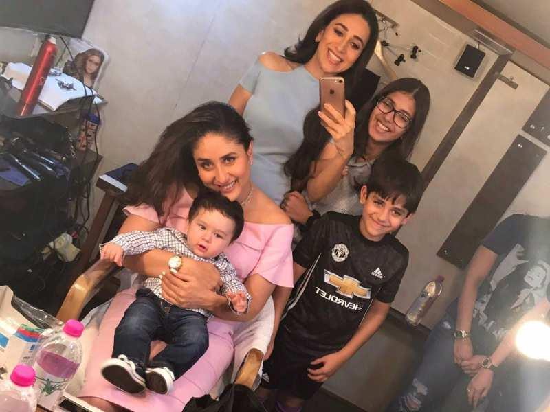Pic Taimur Poses With Mom Kareena Kapoor Khan Aunt