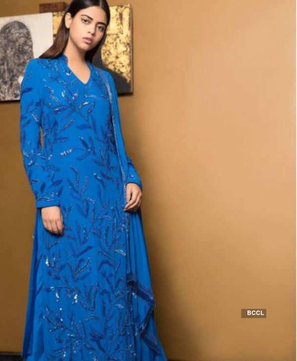 Priyadarshini Chatterjee looks poised in indo western attire
