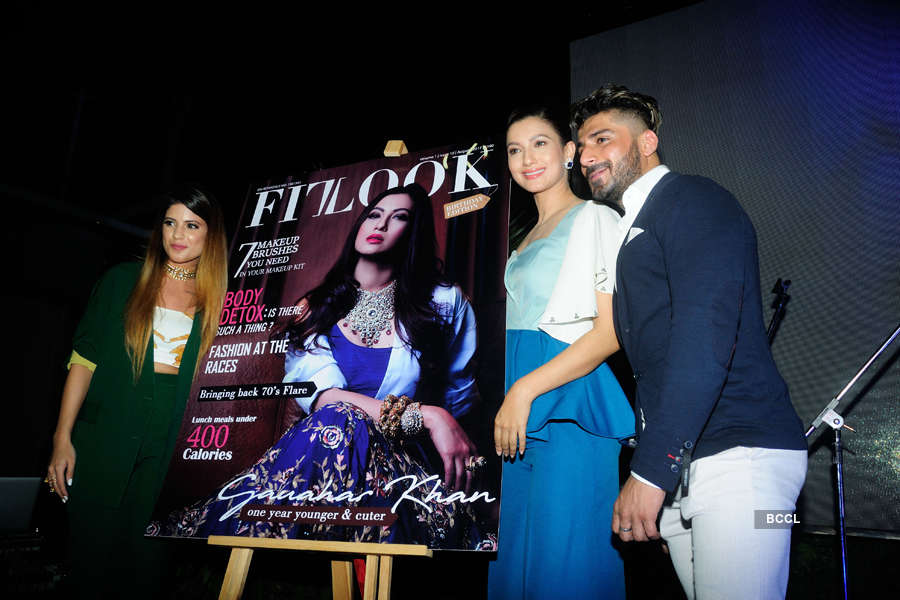 Gauhar unveils magazine cover