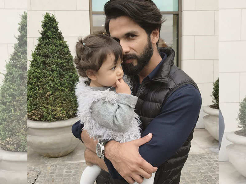 Shahid Kapoor poses with his super cute daughter Misha