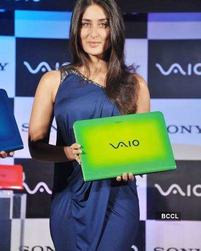 Kareena unveils Laptop