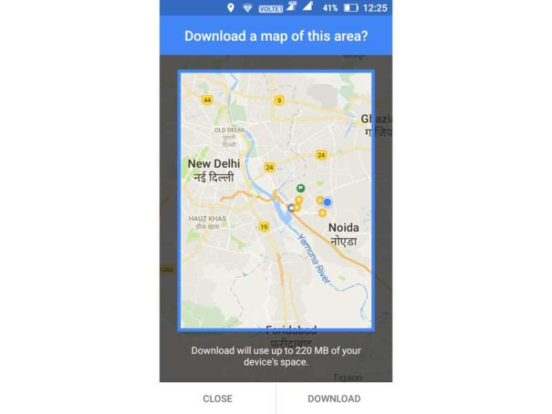 No internet? Here's how to use Google Maps offline on ... on google maps android icon, city maps 2go android, google sync android, google docs offline android, google chrome search,